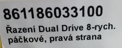 Řazení Dual Drive 8-rych. páčkové, pravá strana